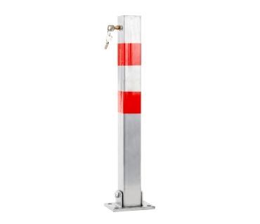 Potelet de Parking rabattable en acier galvanisé