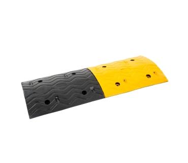 Ralentisseur monobloc de 1 mètre noir et jaune