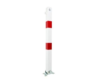 Potelet de sécurité rabattable avec clé pompier sur platine
